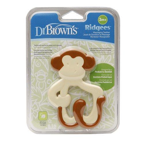 Dr Browns Ridgees Monkey Teether Brown 1 ea pack of 4