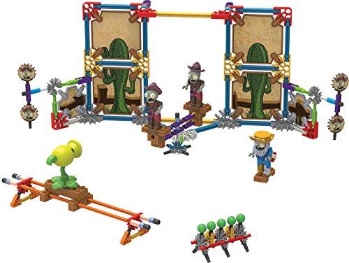 KNEX - Plants vs Zombies Wild West Skirmish Building Set - 219 Pieces -  Ages 5 Construction Educational Toy