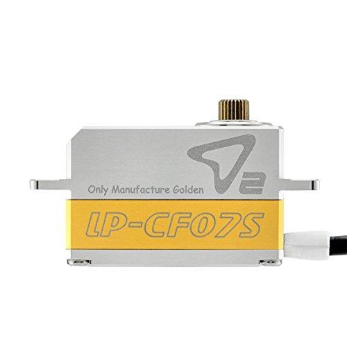 Rcomg D2-LP-CF07S-MG Full Metal Waterproof Low Profile Digital Servo with Metal Gear Sets Apply to 110 Drift Cartouring CarOn-road Rc Car