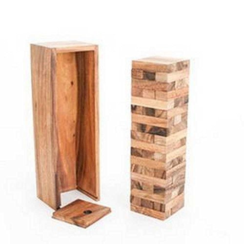 Handmade Wooden Tower Game 54 Blocks 7 Inch Small