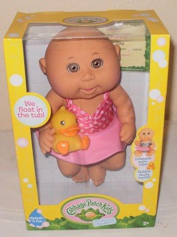 Cabbage Patch Kids Tiny Newborn Splash n Fun Doll Light Brown Skin Brown Eyes
