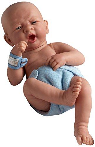 JC Toys 18504 La Newborn First Yawn 15-Inch Real Boy Vinyl Doll
