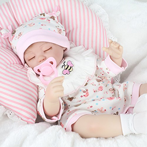 Kaydora Reborn Baby Dolls Realistic 16 Silicone Vinyl Handmade Lifelike Newborn Baby Dolls Gifts Toys with Magnetic Pacifier Dummy
