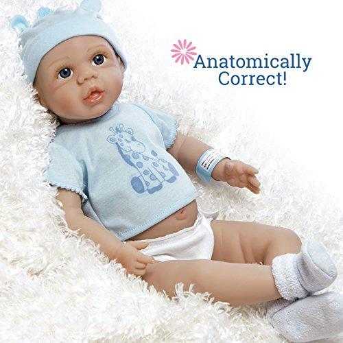 Paradise Galleries Anatomically Correct Full Vinyl Lifelike Newborn Baby Doll - Tiny Twin Boy 18 inches