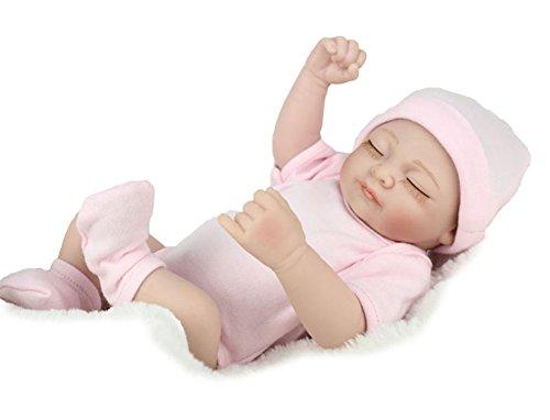 RoseSummer Handmade Real Looking Newborn Baby Vinyl Silicone Realistic Reborn Doll Girl