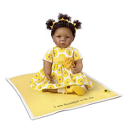 Linda Murray Peyton 20 Lifelike African-American Baby Doll by Ashton Drake