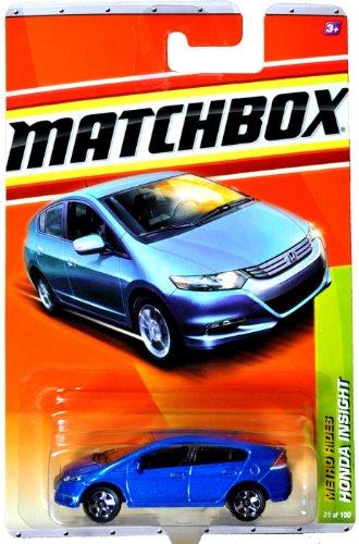 Mattel Year 2010 Matchbox MBX Metro Rides Series 164 Scale Die Cast Car 31 - Blue Hybrid Electric Vehicle HONDA INSIGHT T8921