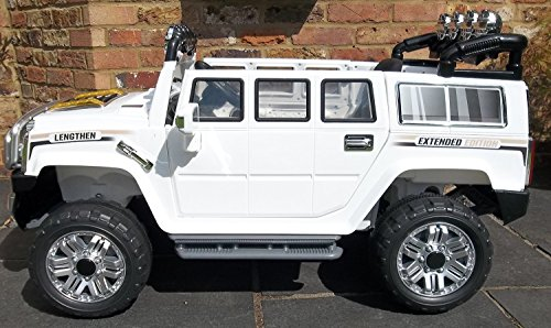 Ride on car HUMMER Color - WHITE Electric Vehicle Battery Operated Ride On Car Toy With Remote Control 2 speeds For kids 2-5 yearsModel HJJ255-A-white