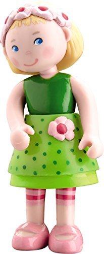 HABA Little Friends Mali - 4 Bendy Girl Dollhouse Doll Figure with Blonde Hair Headband by HABA