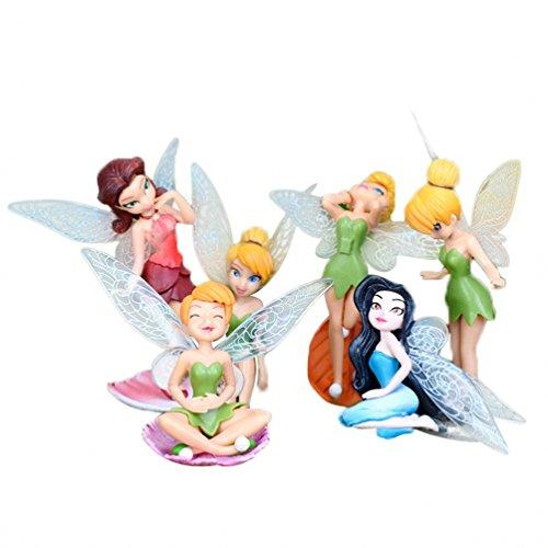 Pack of 6PCS Miniature Flower Fairy Girls Dollhouse Funiture Accessories