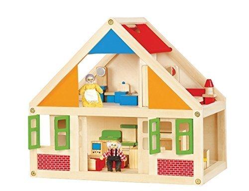 Toy wooden dollhouse dollhouse set VIGA 56254 MOCCO tree