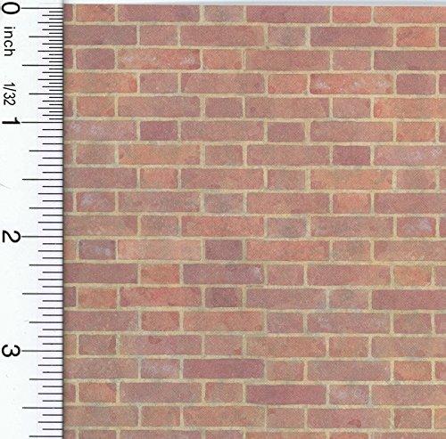 Dollhouse Wallpaper Old Red Bricks