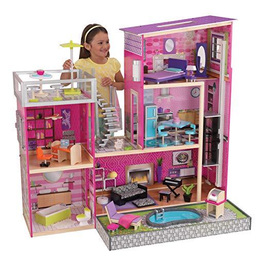 KidKraft Girls Uptown Dollhouse with Furniture