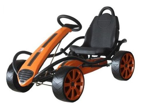 Kettler Kiddi-O Sport Kid Racer Pedal Car Orange