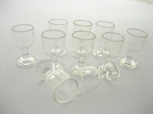 DollsHouse Miniature Accessories 10 Empty Acrylic Wine Ice Cream Cup Supply 5639