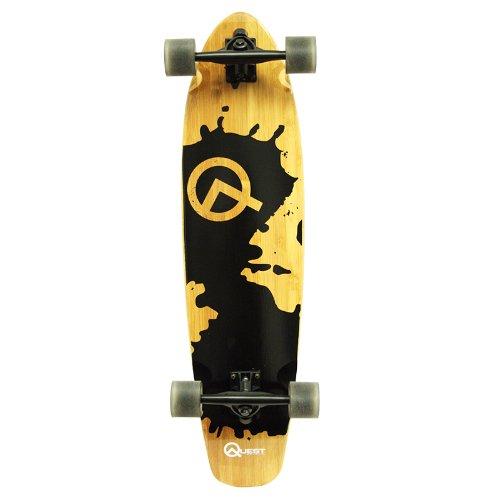 Quest Rorshack Bamboo Longboard Skateboard 34-Inch