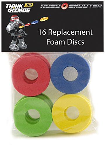 RoboShooter by ThinkGizmos Remote Control Robot - Spare Foam Disks Only pack of 16
