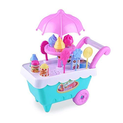 Hot SaleDEESEETM Children Gift Ice Cream Cart Play Set Kids Pretend play Toy Food Toys Education B