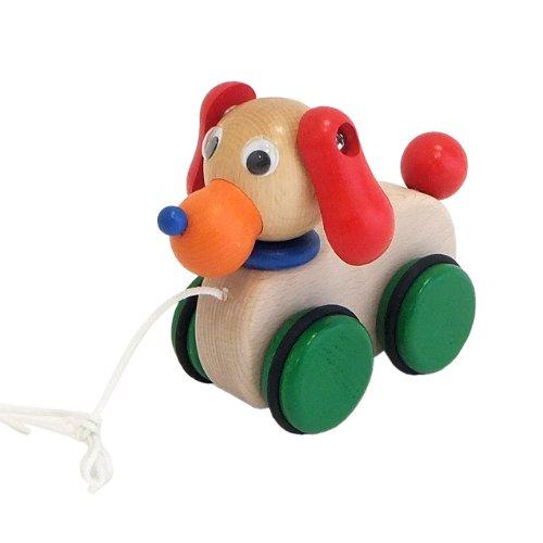 Japanese-made wooden toys Purutoi  pretend pretend dog