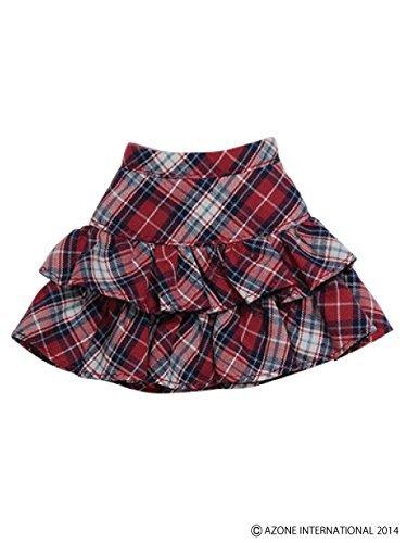 PNS pretend pretend Tiered Skirt Red ~ Navy Check
