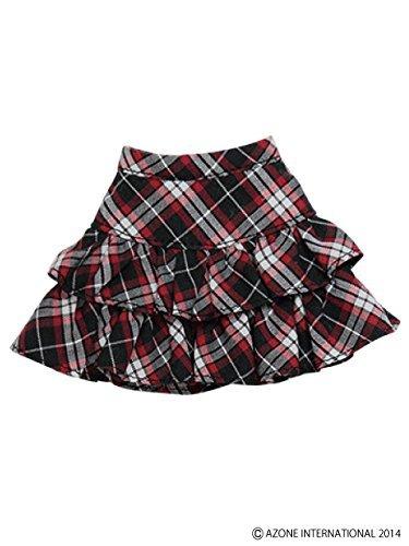 PNS pretend pretend tiered skirt black ~ red check