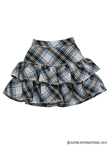 PNS pretend pretend tiered skirt white ~ blue check