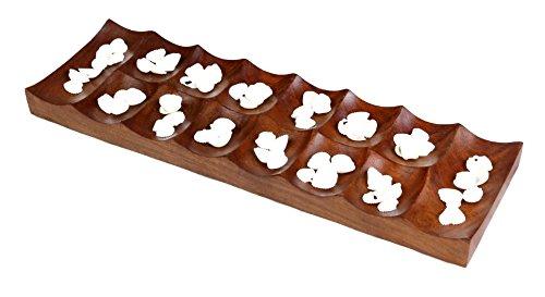 ShalinIndia Handmade Wooden Classic Board Games Mancala13x4x1 Inch450 Grams