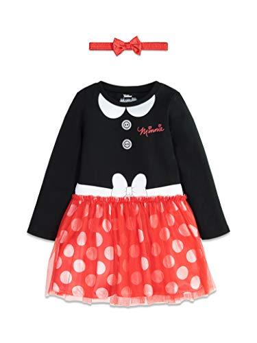 Disney Minnie Mouse Toddler Girls Long Sleeve Costume Dress Headband Set 2T