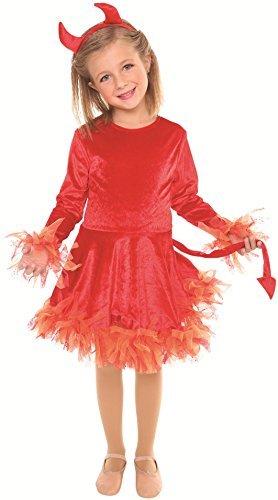 Devil Costume Girls Medium 8-10