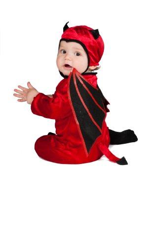 Rubies Costume Black Wing Devil Ez-On Romper Costume Red Toddler