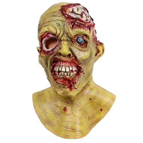 molezu Halloween Novelty Mask Scary Halloween Costume Mask Cosplay Party Masks Off-White