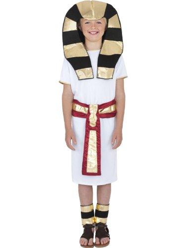 Star55 Big Boys Egyptian Costume Egyptian Pharaoh King Tut Fancy Dres Costume Large 10-12 Years White