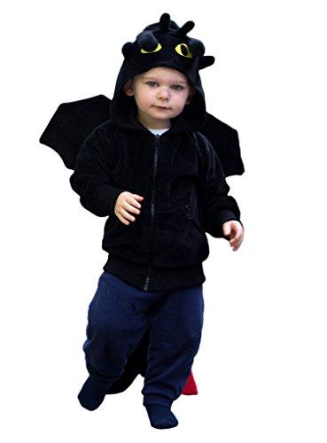 ComfyCamper Dragon Costume Animal Play Sweatshirt Hoodie Boys  Girls 18-24 Months
