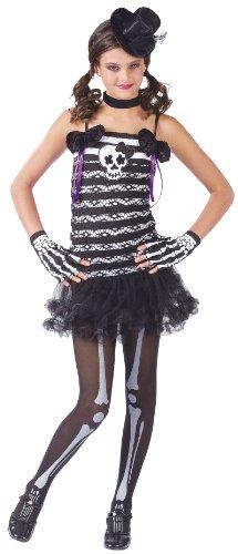 Big Girls Skeleton Costume Large 12-14