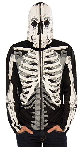 Rubies Mens Skeleton Costume Hoodie Multi Large