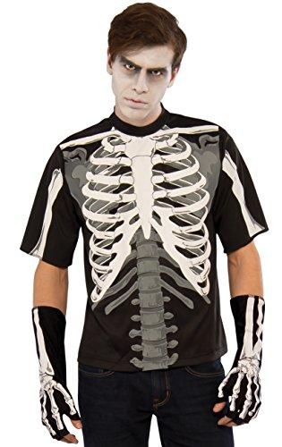 Rubies Mens Skeleton T-Shirt Costume Multi Large