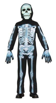 Seasons - X-Ray Skeleton Child Costume - Small 5 - 7 - BlackWhite