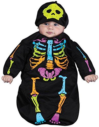 Skele-Baby Skeleton Bunting Costume 0-9 Months