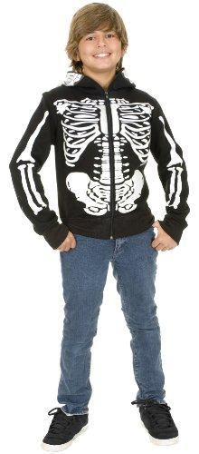 Skeleton Sweatshirt Hoodie Costume - Small