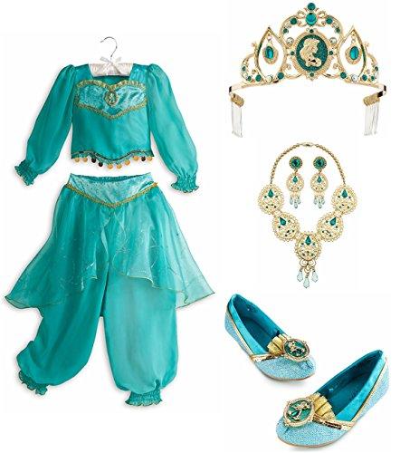 Disney Store Jasmine Set Costume Size Large 910 Shoes 23 Jewelry Tiara