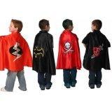 Boys Halloween Costume Dressup Capes Set 4 Knight Bat Pirate Superhero