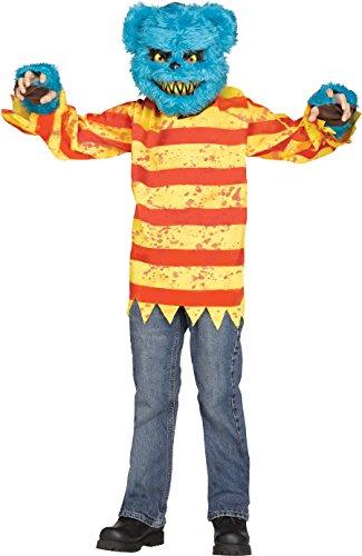 Fun World Furry Blue Killer Bear Boys Halloween Costume-M Blu Med 8-10