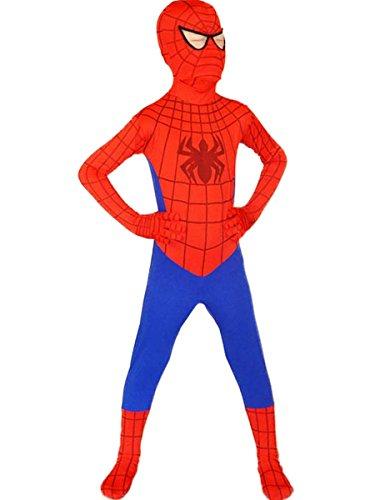 Spiderman Costume Boy Superhero Cosplay Kids Bodysuit Halloween Medium Red