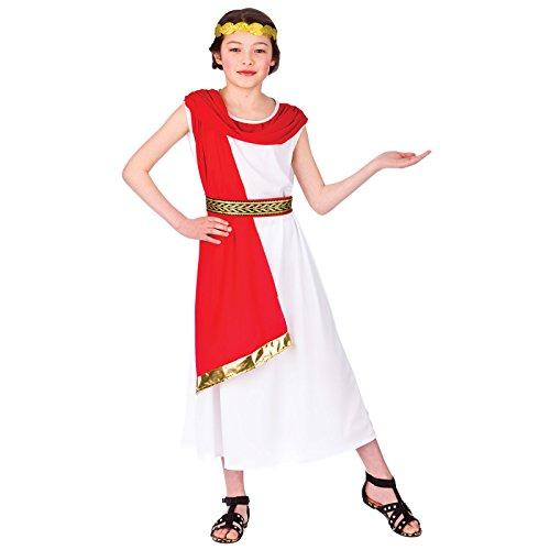 Roman Princess 8-10 Girls Fancy Dress Historical Costume