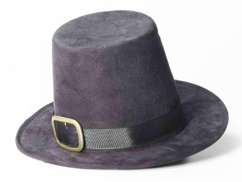 Forum Novelties Super Deluxe Black Pilgrim Costume Hat with Buckle