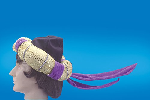 Loftus International Star Power Aladdin Arabian Prince Costume Hat Purple One Size