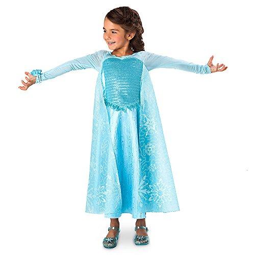 Disney Frozen Elsa Deluxe Costume with Light-Up Bracelet Size 78 Blue