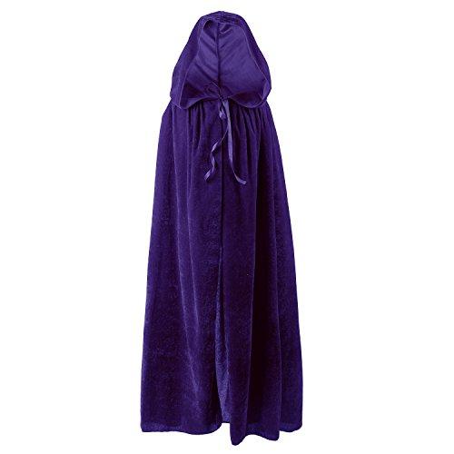 Acecharming Kids Long Hooded Cape Halloween Fancy Dress Purple