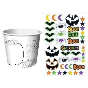 Halloween Kids Activity Treat Cups 6 Per Pack