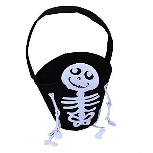MALLOOM Skull Trick or Treat Halloween Kid Child Candy Bag Handbag Toy